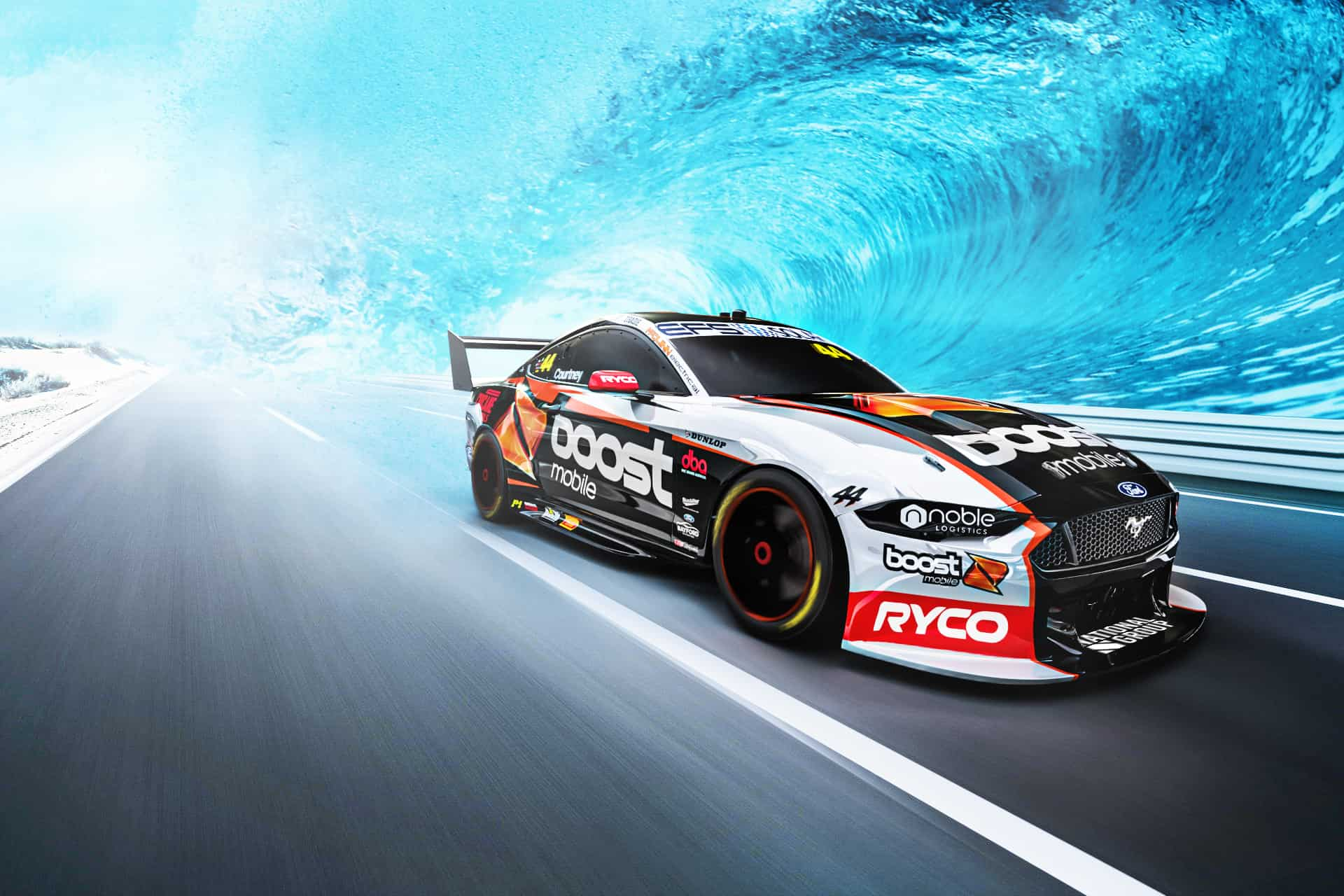 Bold new look for Boost Mobile Mustang